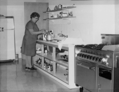 Gladys Herbst in Kitchen 1970's